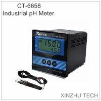 CT 6658 Type промышленный ph метр PH/контроллер ORP PH значение детектор ОВП анализатор ORP детектор переменного тока 220 В Диапазон измерения 0 14PH