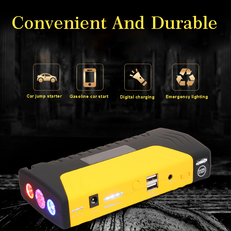 68800 mah 12 v Auto voiture Booster batterie démarreur d'urgence dispositif de démarrage 600A pic Portable saut démarreur batterie externe 12 v