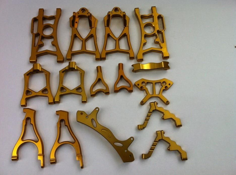 baja 5b. 5t. 5sc metal parts. orange color hub carrier set for baja 5b 5t 5sc orange color