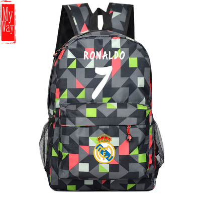 66fdba857 Free Shipping Ronaldo Bag Football Soccer Backpack Boy Girl Outdoor Sports  Fans School Student Book Travel Bag-in Backpacks from Luggage & Bags on ...