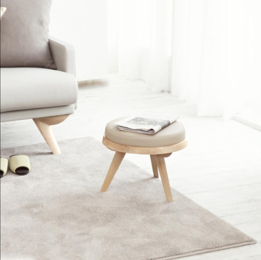 Hermosa Muebles Otomana Pequeñas Y Redondas Viñeta - Muebles Para ...