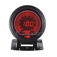 60mm Digtal Red and Blue LCD Display wide band Air Fuel Ratio gauge High Quality Auto Car Motor Air Fuel Ratio meter