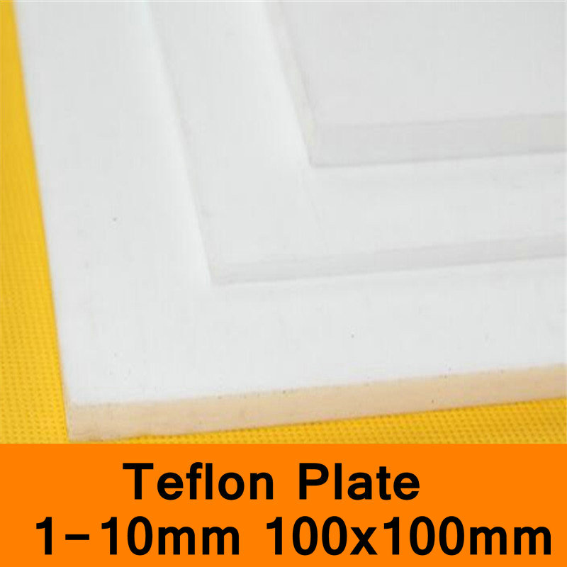 PTFE Sheet Teflon Plate Teflon Board Block Polytef Polytetrafluoroethylene Plate Anti-corrosion High Temperature 100X100mm