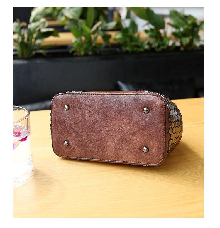 bolsa senhora pequenos sacos crossbody couro rebite médico c229