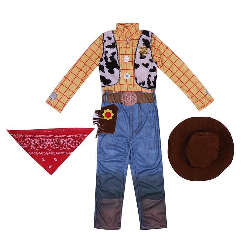 מכירה לוהטת בני צעצוע של הסיפור וודי Deluxe ילדי תחפושות תלבושות