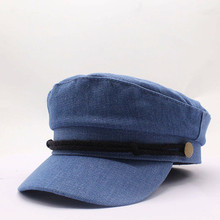 Winter cowboy octagonal hats for women flat military baseball cap ladies solid caps metal casual berets hat gorra militar