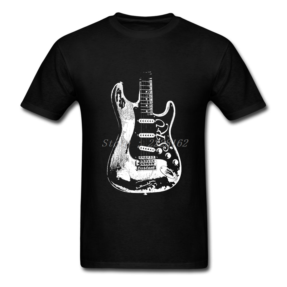Music T-Shirts Men Guitar Legend Tops With Stevie Ray Vaughan Print T Shirt Big Yards Adult