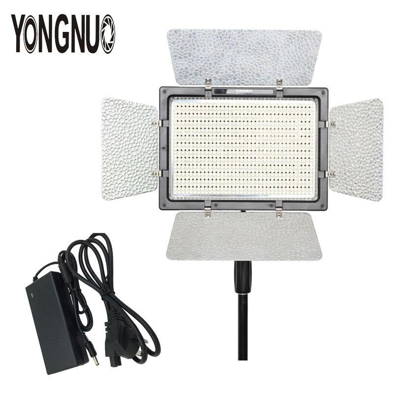 YONGNUO YN900 avec adaptateur d'alimentation à découpage Standard AC, YN-900 haut CRI 95 3200 K-5500 K sans fil bi-couleur LED panneau lumineux vidéo