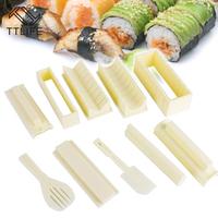 TTLIFE 10 PCS High Quality DIY Sushi Maker Rice Mold Kitchen Sushi Making Tool Set Sushi Mold Cooking Tools Set for Sushi Roll