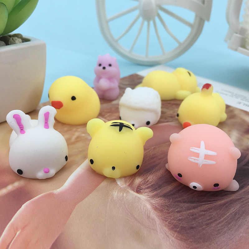 Mini Mudanças Cor Squishy Bonito Gato Mochi Subindo Abreagir Pegajosa Macio Antistress Bola Squeeze Stress Relief Toy Engraçado