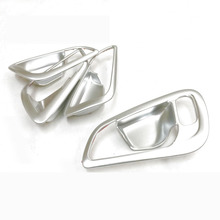 4PCS/set Car Chrome Plating ABS Inner Door Handle Bowl Cover Sticker For Ford Focus 2015 2016 2017 Interior Decoration