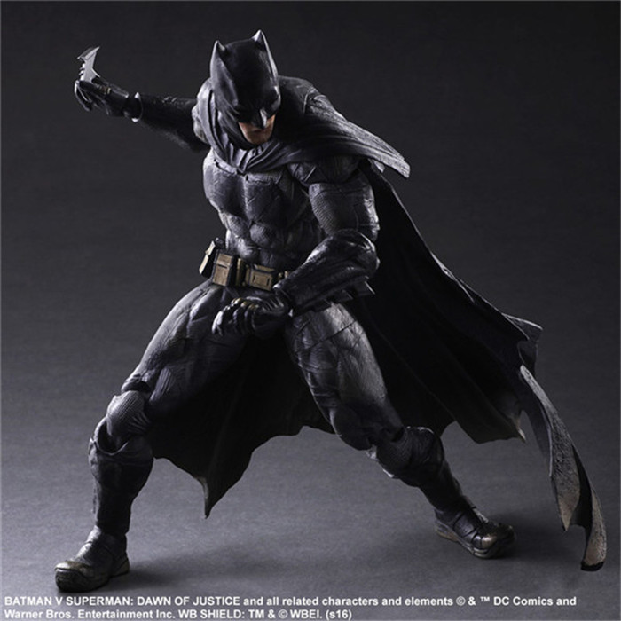 Elsadou 26cm Play Arts PA Dawn of Justice Batman Action Figure Toy Doll Collection free shipping 10 pa kai batman v superman dawn of justice super man boxed 25cm pvc action figure collection model doll toy gift