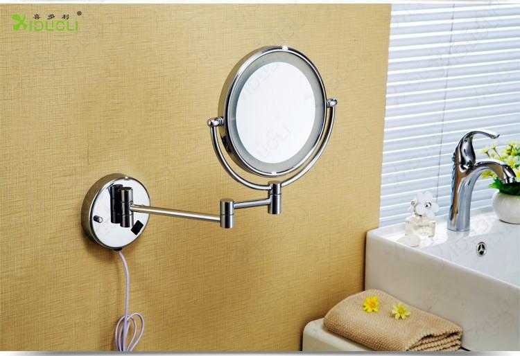 Vergrotende Spiegel Badkamer : Led dubbelzijdige intrekbare badkamer spiegel met licht