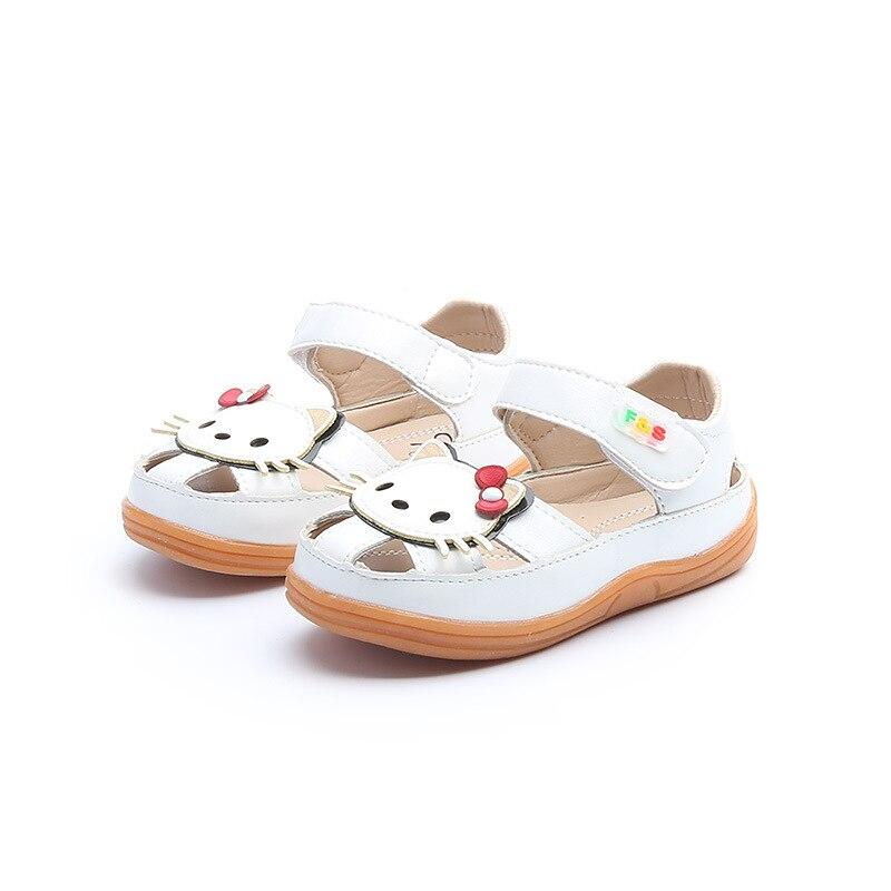 Letnie dziecięce sandały dla dziewczynki Śliczne kotki Skórzane - Obuwie dziecięce - Zdjęcie 4