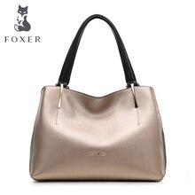 Foxer designer damen tote handtaschen frau leder gold schwarz soft umhängetasche frauen freies verschiffen