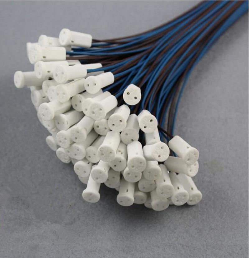 10  50cm Stecker Kristall Lampe Halter 12 V G4 LED Keramik Lampenfassung