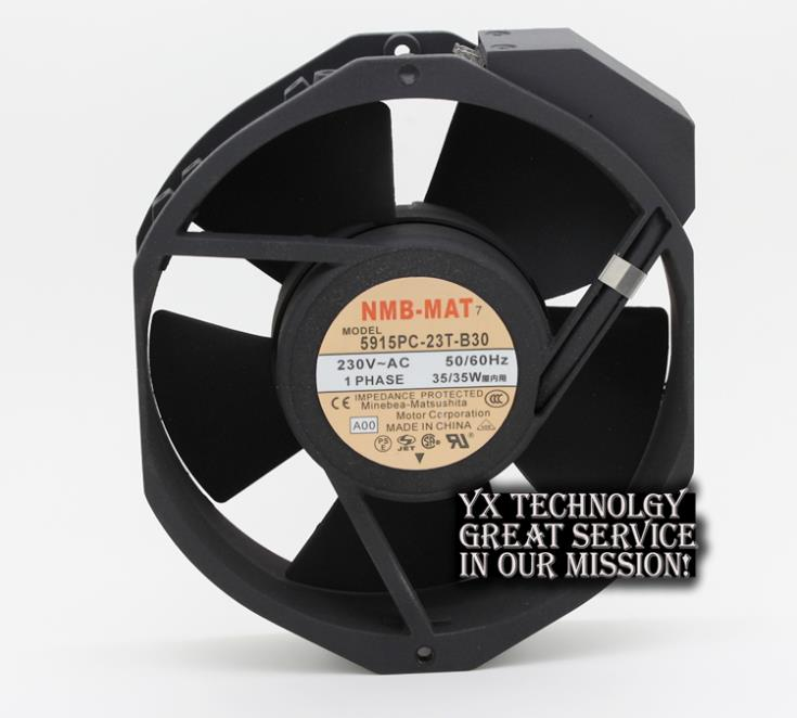 ФОТО New 17038 double ball 220V AC fan 5915PC-23T-B30 35W for NMB-MAT7 170*170*38mm