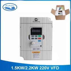 Il trasporto Libero 220 v 1.5kw/2.2KW vector Inveter VFD Convertitore di Frequenza Variabile di Frequenza di Velocità del Motore di Controllo