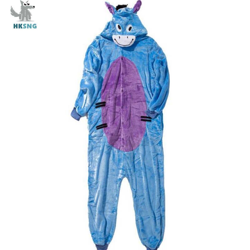 HKSNG New Animal Adult Eeyore Kigurumi Pajamas Flannel Cartoon Blue Donkey Onesies Cosplay Costumes Jumpsuits Pyjamas Hooded -in Anime Costumes from Novelty ...  sc 1 st  AliExpress.com & HKSNG New Animal Adult Eeyore Kigurumi Pajamas Flannel Cartoon Blue ...