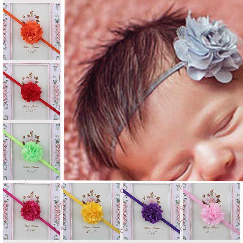 Мини цветы из сатина Детская повязка для головы аксессуары для новорожденных девочек головные уборы Детская повязка для волос