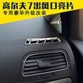 Наклейки Для Vw Golf 7 вентиляционное отверстие крышки Abs Chrome Центр Console Air Vent Рамка Стайлинга Автомобилей Volkswagen Golf 7 Мк7 Автомобилей аксессуары