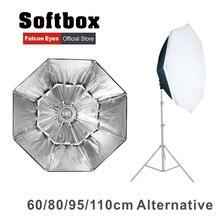 Falcon Eyes Octagon Softbox Plegable Portátil 60/80/90/110 cm Paraguas Difusor Reflector para Estudio Fotográfico Flash Speedlite