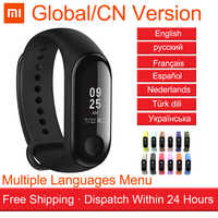 Global / CN Version Original Xiaomi Miband Mi band 3 Smart Band Bracelet OLED 50M Waterproof Heart Rate Monitor Sports Wristband