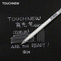 Touchnew 20 قطعة/المجموعة 0.8 ملليمتر الفن علامة الحبر الأبيض لون صورة الألبوم علامات الزفاف هلام القلم للجنسين القلم هدية للأطفال الفن لوازم