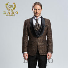DARO 2019 New Men Suit 3 Pieces tuxedo Slim Fit blue grey white for Wedding Dress Suits Blazer Pant and Vest DARO8859(China)