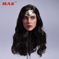 1/6 Échelle Wonder Woman Tête Sculpté Gal Gadot Tête Sculpter Modèle Avec Strabisme Yeux pour 12 Pouces Action Figure