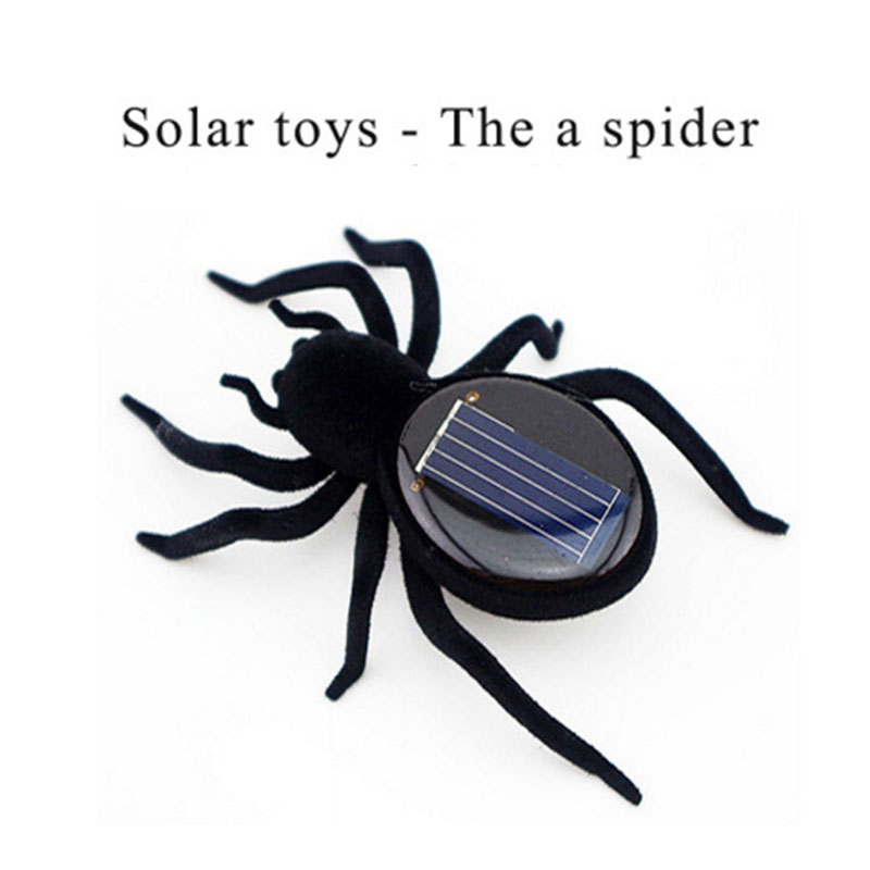 1 Pcs Solar Spider Educational Robot Scary Insect Gadget Small Trick Toy Solar Toy Juego Solares Children Kids Toy Gift