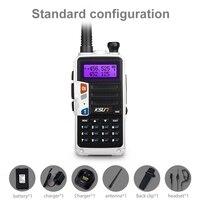 מכשיר הקשר KSUN H2 מכשיר הקשר 10W צריכת חשמל גבוהה Dual Band כף יד שני הדרך Ham Radio Communicator HF משדר חובב Handy (4)