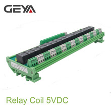 где купить Free Shipping GEYA 16 Groups 1SPDT 1NC1NO Relay Module for AC DC 5V 12V 24V PLC Relay Board 12V 10A Electromagnetic Relay по лучшей цене