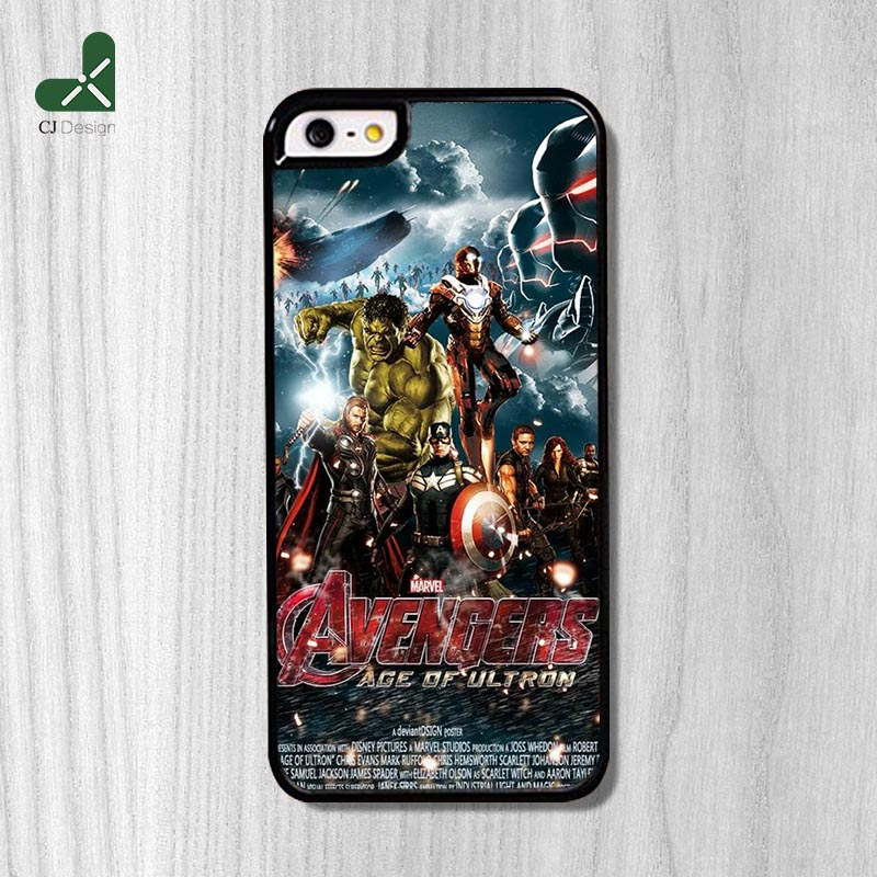 Personalized Design The era of the Avengers Pattern Phone Case For iPhone 6 6s And 4 4s 5 5s 5c 6 Plus Original Back cover