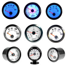 Boost/Water Temp/Oil Temp/Oil Press/Voltage/Tachometer RPM Gauge 52mm Analog led Black Case With Blue LED