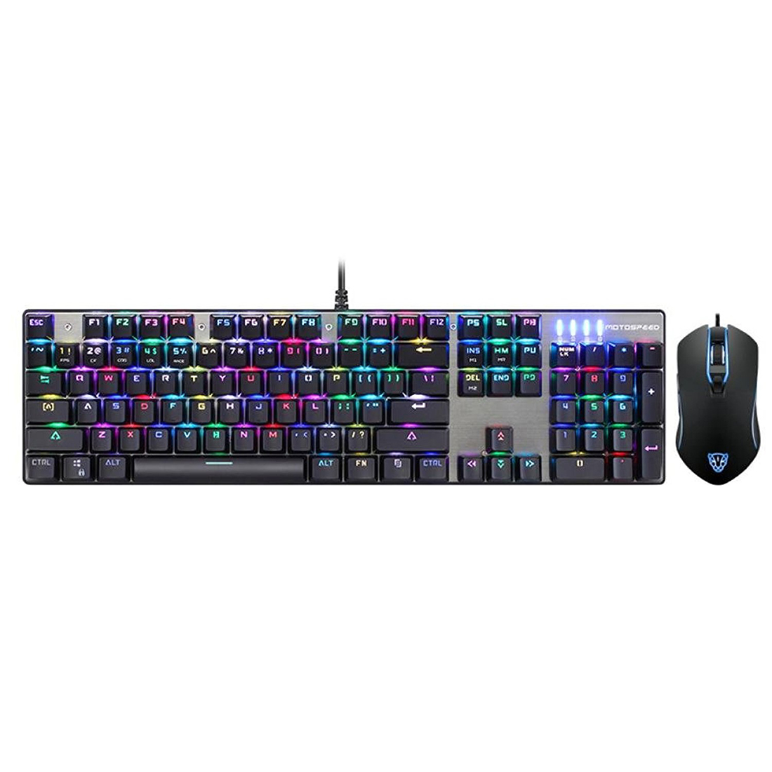 CK888 Gaming Keyboard and Mouse Set with Rainbow Backlight for Desktop