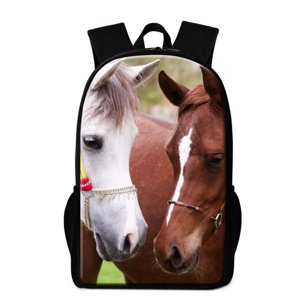 Designer Horse Backpacks for Children Teen boys School Bags Animal Pattern Bookbags for Girls Cool Back Pack Students Mochilas