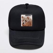 Multi Colors Fashion Baseball Caps Pure Handmade Brown Bear Printing Hats Women Mens Dad Adjustable Breathable Mesh Hat