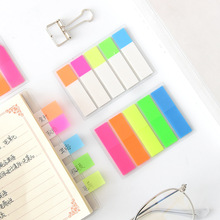 1 Pcs Fluorescence Colour Self Adhesive Memo Pad Sticky Notes Bookmark Point It Marker Memo Sticker Paper Office School Supplies