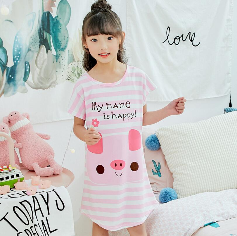 84fc5cbf332a New Girls Princess dress loose Short Sleeve Nightgowns Girls Summer ...