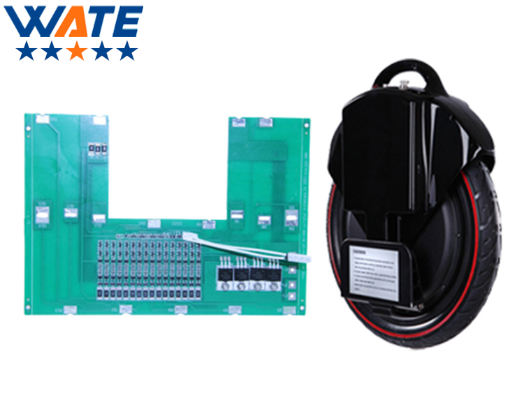 16S 60V or 67.2 V unicycle lithium ion battery BMS 59.2V li-ion battery protection circuit board for solo-wheel battery PCB 10s 36v li ion lithium cell 40a 18650 battery protection bms pcb board balance r179t drop shipping