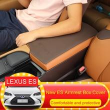 QHCP PU кожа автомобиля подлокотник коробка для хранения Обложка Pad подушки защиты интерьера аксессуар для Lexus ES200 260 300 H 2018