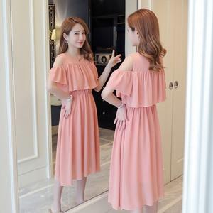 Image 3 - 6206 # אלגנטי שיפון יולדות סיעוד שמלת קיץ אופנה בגדי הנקה לנשים בהריון הריון הנקה