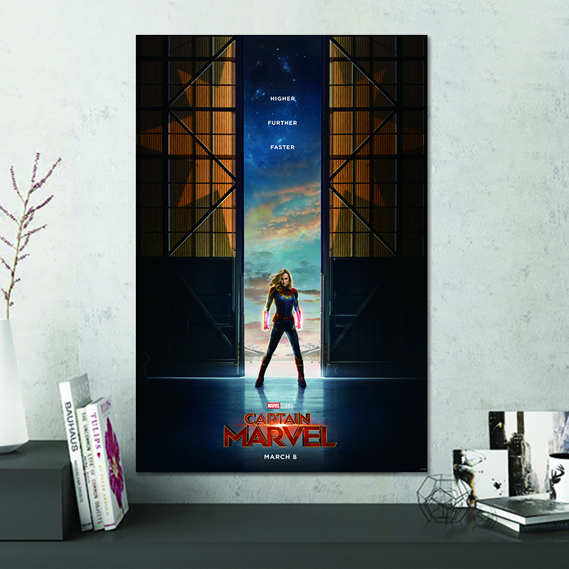 US $4.9 51% OFF|2019 Captain Marvel Movie Superhero Silk Poster Wall Art  for Living Room Bedroom Decorating Picture Home Decor-in Painting & ...