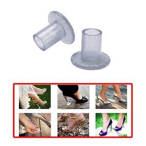 Image 1 - 50 pares/lote calcanhar stoppersilvery alta heeler antiderrapante silicone calcanhar protetores stiletto dança cobre para festa de casamento nupcial