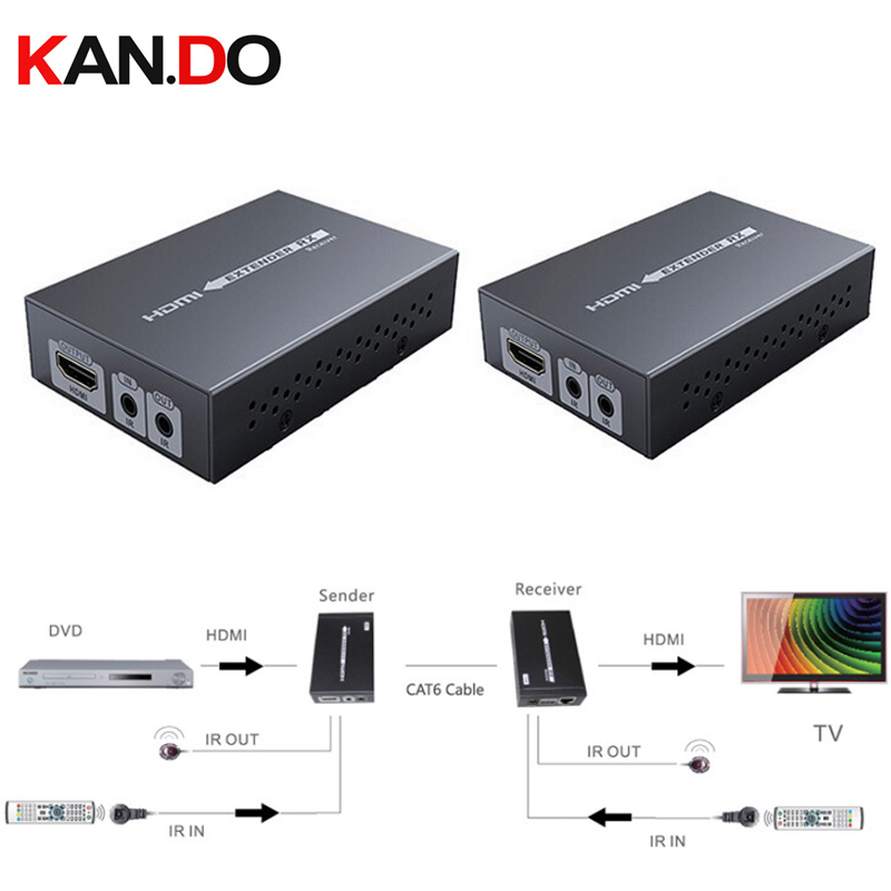 Lkv375N Support 3D 4k*2k Full 3D Adapter HDMI Over HDBaset Extender Up To 70M,HDBaset HDMI Extender W/ IR Over Single UTP Cable