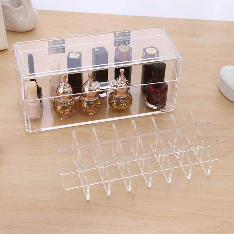 New Acrylic Makeup Organizer For Cosmetic Display Stand 24 Lipstick Storage Box Makeup Tools Brush Holder Home Organiser цена