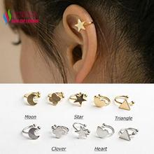 popular silver ear cuffs for pierced ears buy cheap silver ear