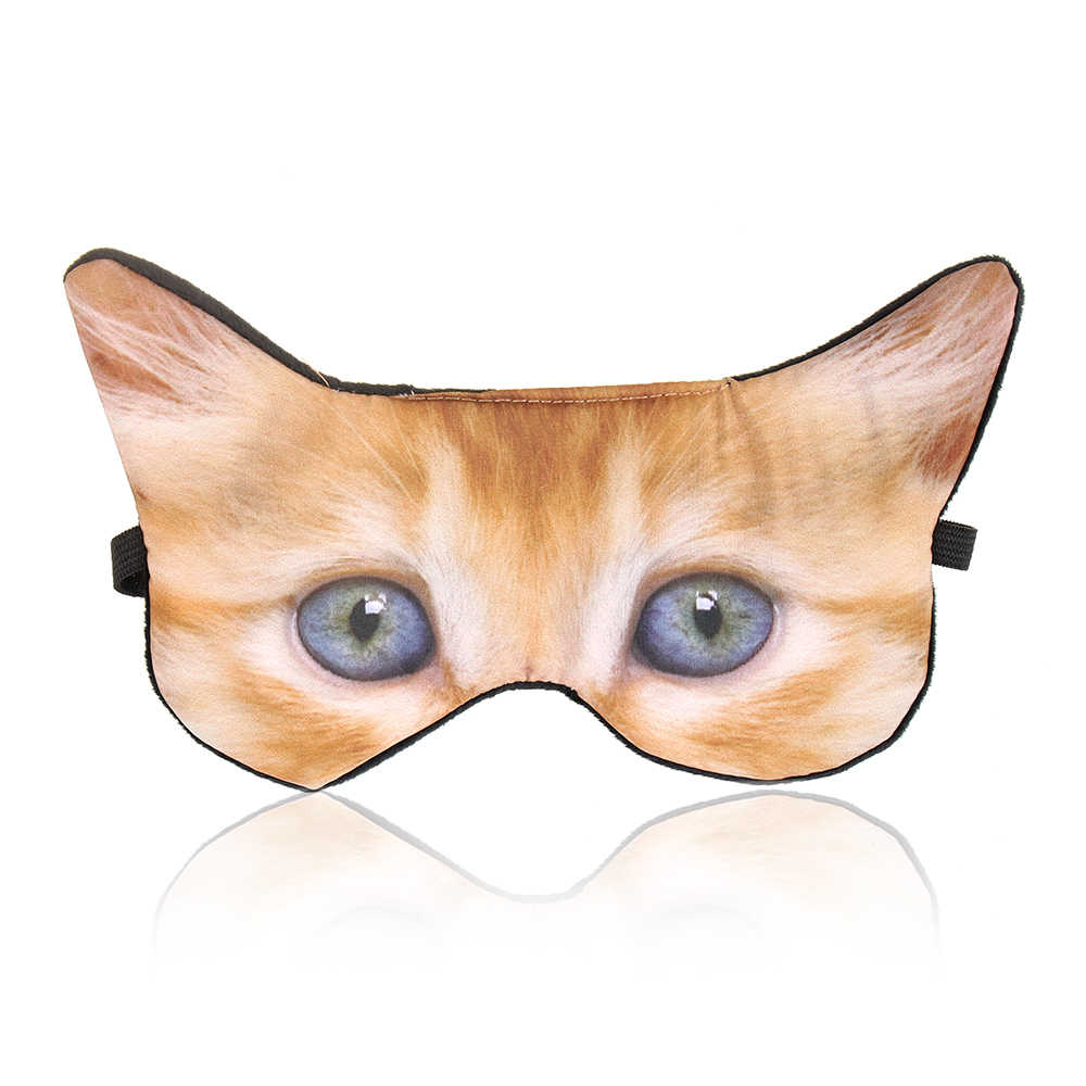 1 Pc Hot 3D การพิมพ์ Eye Mask เพื่อช่วย Sleep การ์ตูนสัตว์ Nap Eye Mask Shade Cover Blindfold Sleeping 3D shade Sleep Eyepatch