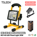 TSLEEN 30W LED Flood Light 18650 Cell Spot Lamp Camping Hiking Work Torch + SOS